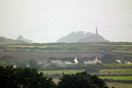 Cape Cornwall and the Brisons from Carn Eanes