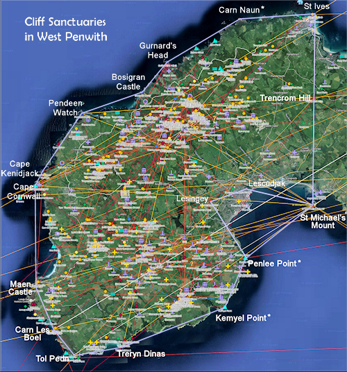 Clif sanctuaries in West Penwith